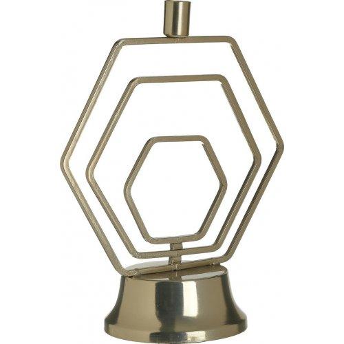 INART 3-70-983-0017 Κηροπήγιο Μετάλ.Χρυσό 24χ12χ29 0026808