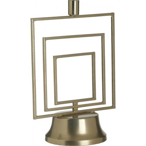 INART 3-70-983-0018 Κηροπήγιο Μετάλ. Χρυσό 20χ12χ29 0026810