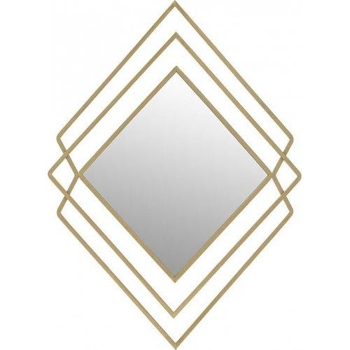 INART 3-95-161-0050 Καθρέπτης Τοίχου Μετάλ. Χρυσός 62χ3χ86 0026826