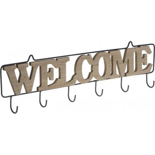 INART 6-70-180-0021 Κρεμάστρα Ξυλ/Μεταλ. Welcome 52χ4χ15 0026827