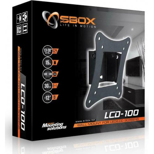 SBOX LCD-100 Επιτοίχια Βάση Στήριξης Τηλεόρασης έως 30