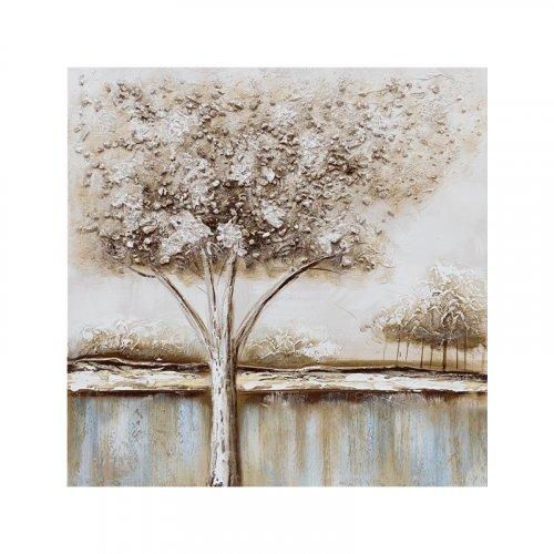 FYLLIANA 148-121-088 Brown Tree Κάδρο σε Καμβά 60x2.3x60 0027177