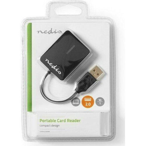 NEDIS CRDRU2300BK Card Reader Multicard USB 2.0 0027252