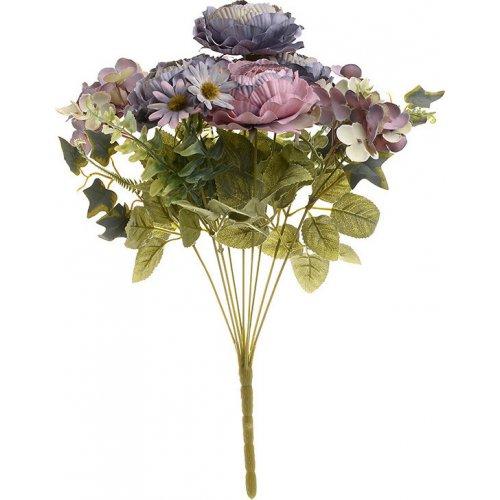 INART 3-85-505-0040 Λουλούδι/Μπουκέτο Μπλε/Ροζ Υ40 0021033