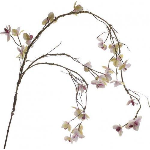 INART 3-85-084-0056  Λουλούδι/Κλαδί PL/Υφασμα. Μωβ/Λευκό Μ115 0023311