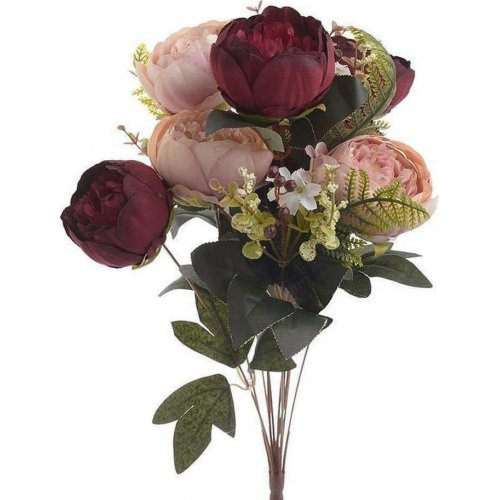 INART 3-85-505-0066  Λουλούδι/Μπουκέτο Pl/Υφασμα. Κόκκινο Υ52 0024567
