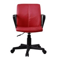 FYLLIANA 8601 093-16-071 Καρέκλα Γραφείου Κόκκινη Δερμάτινη με Μπράτσα