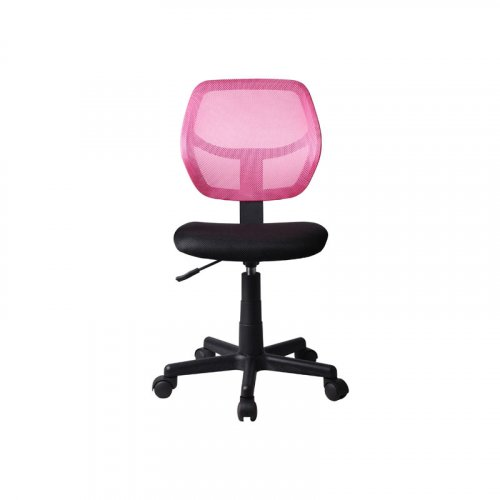 FYLLIANA 093-27-098 Καρέκλα Γραφείου Χωρίς Μπράτσα 5156Ρ Μαύρη/Ροζ 41χ52χ80/92