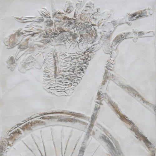ETIQUETTE 1-108-92-916 Κάδρο Σε Καμβά Ποδήλατο 60χ3χ60εκ.