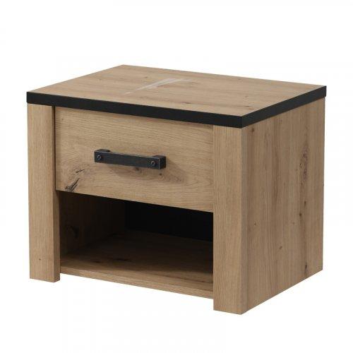 FYLLIANA 11008371 Κομοδίνο Lazio ΝΟ1F Artisian Oak 53.5x40x43 0023433