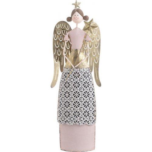 INART 2-70-822-0014 Άγγελος Χρυσό/Ροζ 15x5x42εκ 0025159