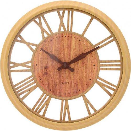 INART 3-20-284-0122 Ρολόι Τοίχου Pl Natural 30x5x4