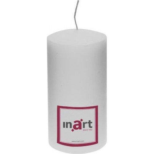 INART 3-80-474-0022 Κερί Παραφίνης Λευκό Μ:7 Π:7 Υ:18 0025831