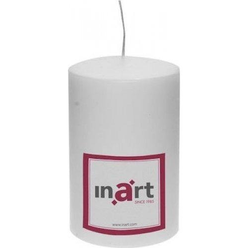 INART 3-80-474-0040  Κερί Παραφίνης Λευκό - 9cm x 9cm x14cm 0025815