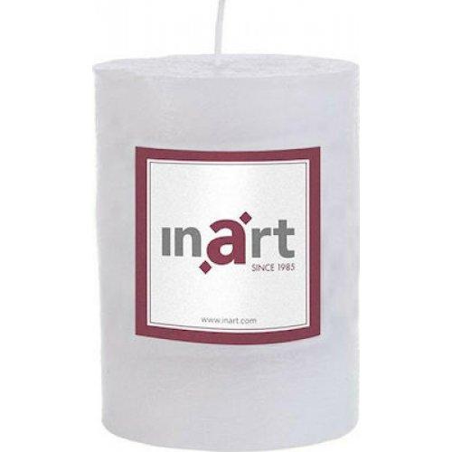 INART 3-80-658-0020 Κερί Παραφίνης Άρωμα Βανίλια Λευκό 7X10 εκ 0025814