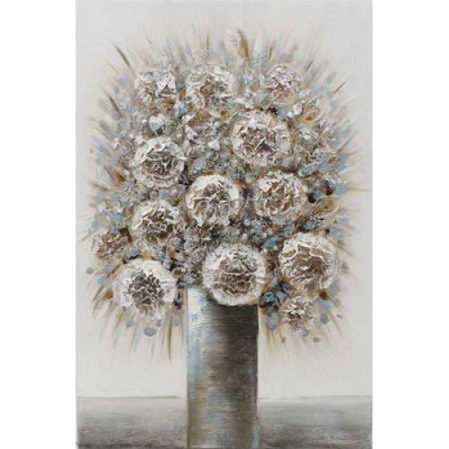 INART 3-90-519-0181 Πίνακας σε καμβά λουλούδια εκρού αντικέ 60x4x90εκ 0025851