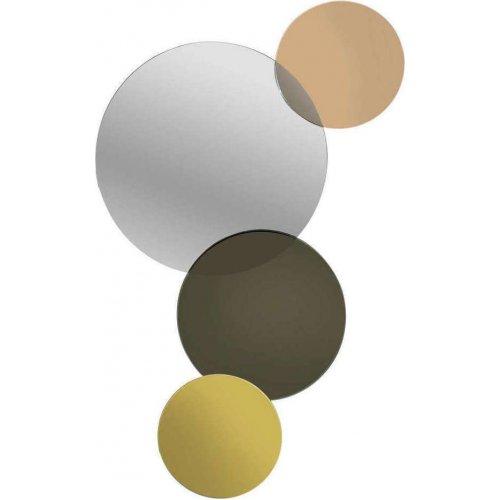 INART 3-95-656-0003  Καθρέπτης Τοίχου Χρυσός/Μαύρος 36χ3χ62 0024537