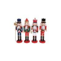 FYLLIANA 373-92-333 Ξύλινο Χριστουγεννιάτικο Διακοσμητικό 1/4 Μολυβένιος Στρατιώτης 24εκ