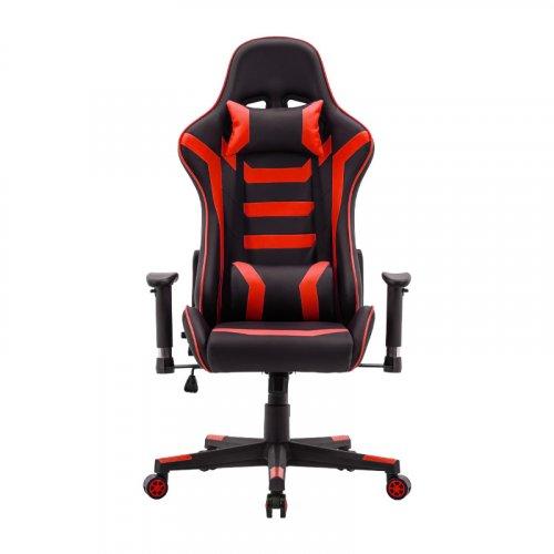 FYLLIANA 387-00-006 Καρέκλα Gaming SAR-1 Μαύρο-Κόκκινο Τεχνόδερμα 64χ53χ135