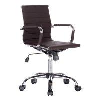 FYLLIANA 7501-3 425-82-033 Καρέκλα Γραφείου Καφέ Δερματίνη 57*59*88.5/96.5εκ.