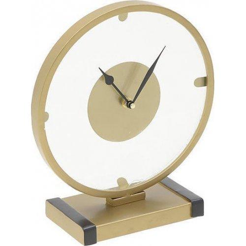 INART 3-20-465-0004 Ρολόι Επιτραπέζιο Μεταλλικό Χρυσό 26 x 11 x 28 0021415
