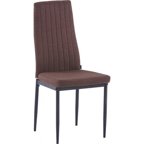 FYLLIANA 606-92-082 Καρέκλα Τραπεζαρίας 1001 Καφέ Ύφασμα 42.5χ44χ96.5εκ. 0018912
