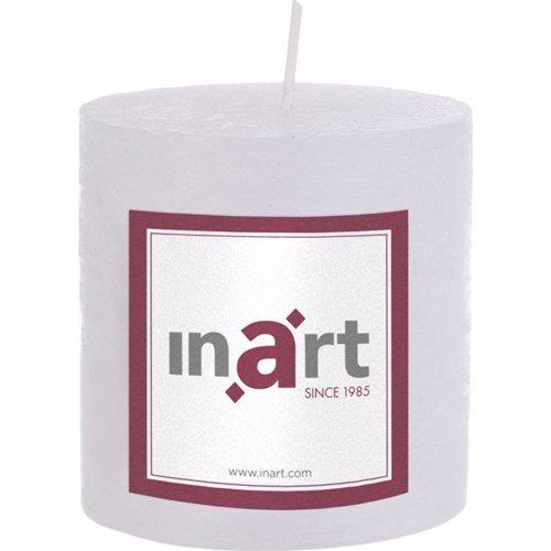 INART 3-80-658-0013 Κερί Παραφίνης Άρωμα Βανίλια Λευκό 7 x 7,5 0021378