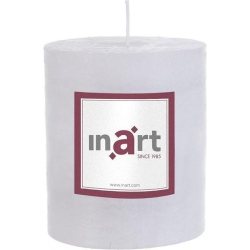 INART 3-80-658-0034 Κερί Παραφίνης Άρωμα Βανίλια Λευκό 9 x 10 0021379