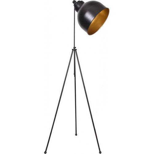 FYLLIANA 835-92-116 Λάμπα Δαπέδου 0021 Μαύρο-Χρυσό Μεταλλικό