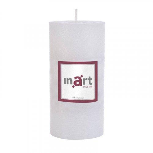 INART 3-80-658-0027 Κερί Παραφίνης Άρωμα Βανίλια Λευκό 7χ15εκ.