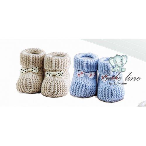 SB HOME  Baby Shoes No5  Πλεκτά 0024388
