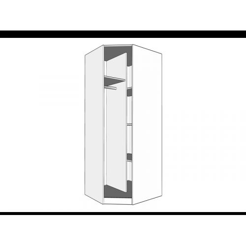 Forma Ideale 11008714 Ντουλάπα Hana 3K2FO Λευκή 120χ52χ205 0025643