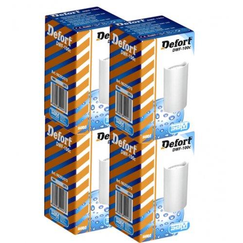 Defort DWF-100c Φίλτρο Νερού Πακέτο 4 Τμχ Ενεργού Άνθρακα (Για DWF-600 & DWF-500 + Veluda TF1) 0005887