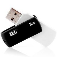 GOODRAM GRAM792105 USB 2.0 FLASH DRIVE 8GB Μαύρο & Λευκό