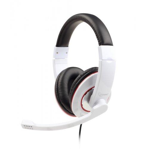 GEMBIRD MHS-001-GW Στερεοφωνικά Ακουστικά με Γυαλιστερή Επιφάνεια Λευκό