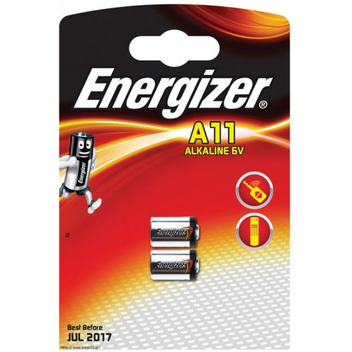 ENERGIZER A11/E11A Μπαταρία Λιθίου/Photo Energizer σε Blister με 2 Μπαταρίες