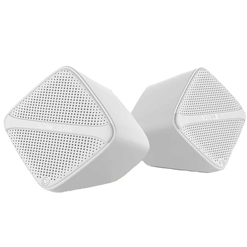 SONIC GEAR SCUBEW Speakers USB Digital AMP + Micro Driver White