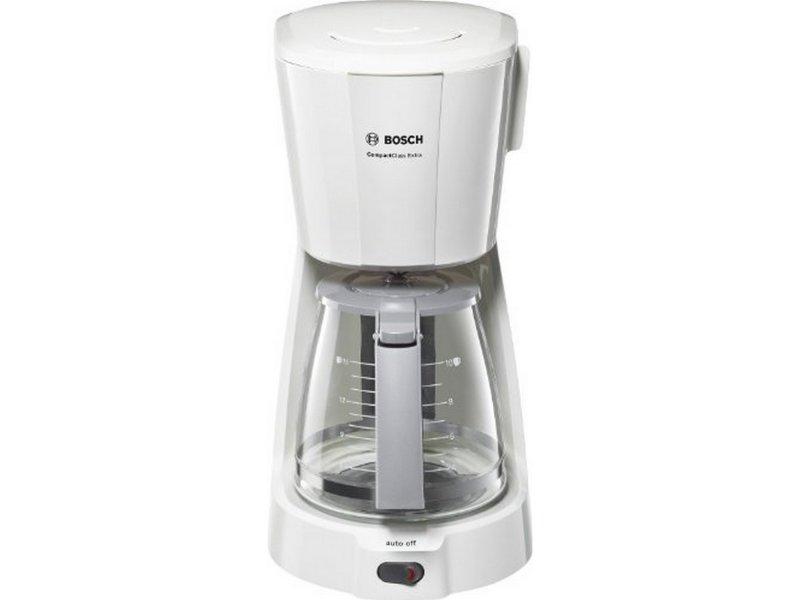 BOSCH TKA3A031 CompactClass Extra Καφετιέρα Φίλτρου Λευκή 1100W - 1.25 lt - Για 10 κούπες