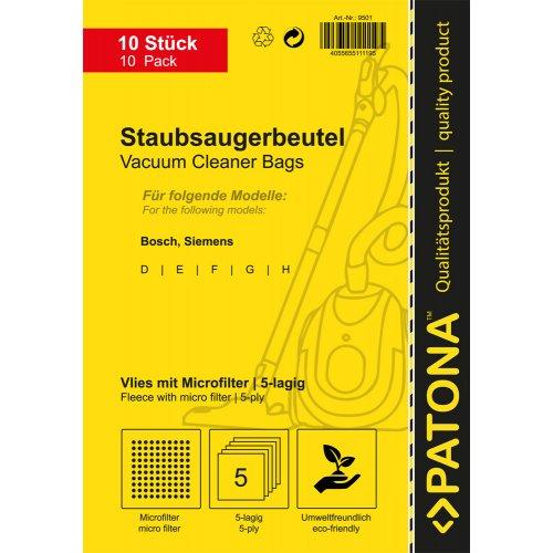 PATONA για Siemens/Βosch (Type GALL) 10 Σακούλες Ηλ.Σκούπας +1 φίλτρο (9501) 0006560