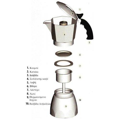 BIALETTI BRIKKA Καφετιέρα Espresso με Μηχανισμό για Καϊμάκι 2 Μερίδων (New Model) (0006782) 0001939