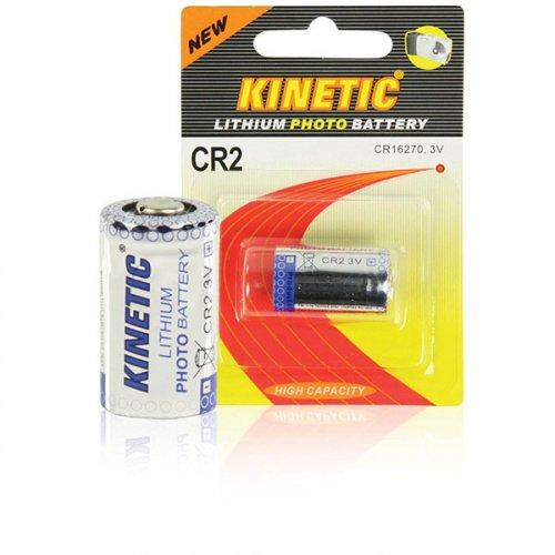 KINETIC CR2 Μπαταρία Λιθίου 3V, 600 mAh, για Φωτογραφικές Μηχανές, σε blister 1 μπαταρίας