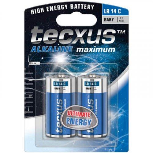 TECXUS 11010/2 Αλκαλική Μπαταρία LR14 C 2τεμ
