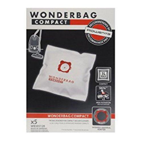 WONDERBAG WB305120 Σακούλες Ηλεκτρικής Σκούπας 5τεμ (Γνήσιες-Original για Rowenta) 0010780