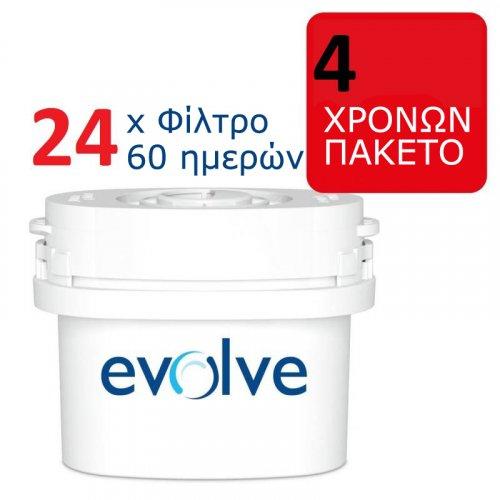 Αντικαθιστούν BRITA MAXTRA - Ανταλλακτικά Φίλτρα 24τμχ 60-Ημερών (4 Ετών)- Aqua Optima Evolve EVD 0010991