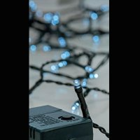 EUROLAMP 600-11520 180 Χριστουγεννιάτικα Λαμπάκια Λευκό LED ανά 5εκ. IP44 σε Σειρά με Πρόγραμμα 12,15μ.