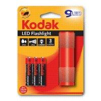 KODAK Φακός 9-LED Κόκκινος + 3 x KODAK Μπαταρίες AAA