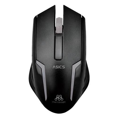 ALCATROZ ASIC5BGM Ενσύρματο Ποντίκι 1000cpi Μαύρο - Ασημί
