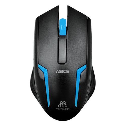 ALCATROZ ASIC5BBL Ενσύρματο Ποντίκι 1000cpi Μαύρο - Μπλε