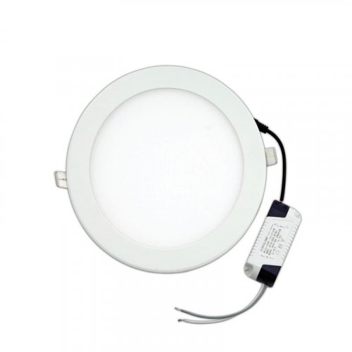 EUROLAMP 145-68012 LED SLIM Φ225 20W 3000K Φωτιστικό Χωνευτό Λευκό