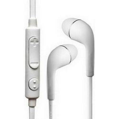 LAMTECH LAM073036 Ακουστικά-Ψείρες με Μικρόφωνο White